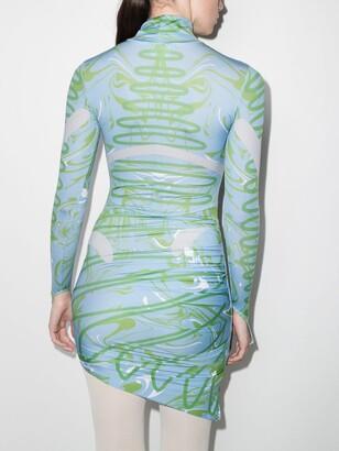 MAISIE WILEN Blue Orbit City Printed Mini Dress