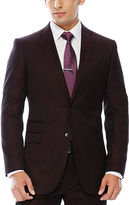 Jf J.Ferrar JF Enlightened Gab Merlot Suit Jacket - Slim Fit