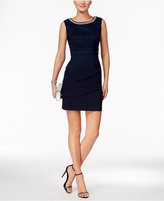 Connected Petite Tiered Embellished Sheath Dress