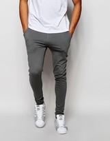 Asos Super Skinny Joggers In Light Gray
