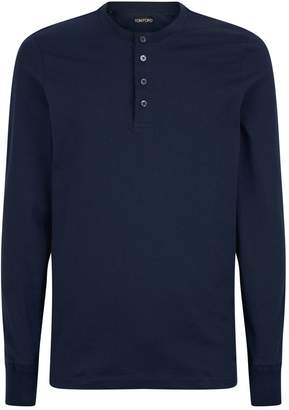 Tom Ford Long-Sleeved Cotton Half-Button T-Shirt