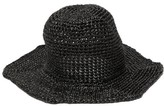 Reinhard Plank Hats - Star Straw Bucket Hat - Womens - Black