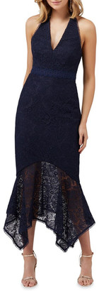 Forever New Tomeeka Halter Neck Lace Midi Dress
