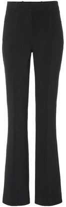 Victoria Victoria Beckham Mid-rise flared wool-blend pants