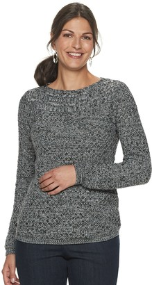 Croft & Barrow Petite Cable Boatneck Sweater