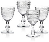 Godinger Lumina Four-Piece Beaded Glass Win and Water Goblets