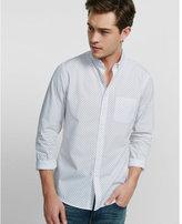 Express soft wash double dot print shirt