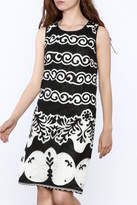 Tribal Black Printed Dress