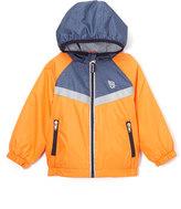 Osh Kosh Orange & Blue Hooded Zip-Front Jacket - Infant Toddler & Boys