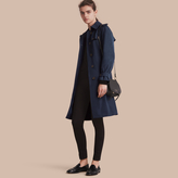 Burberry Lightweight Single-breasted Trench Coat , Size: 14, Blue