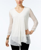 Alfani Draped Burnout Top, Only at Macy's