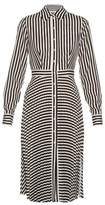 Altuzarra Dane striped crepe de Chine dress