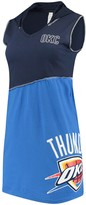 Unbranded Women's Refried Tees Navy/Blue Oklahoma City ThunderOklahoma City Thunder Hooded Sleeveless Dress