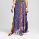 Knox Rose Women's Printed Side Slit Maxi Skirt
