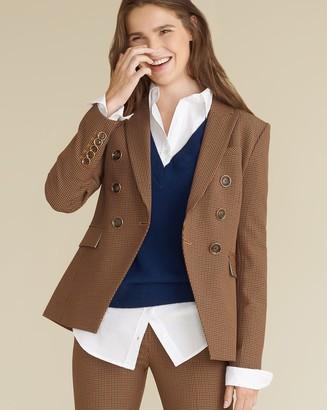 Veronica Beard Miller Micro-Gingham Dickey Jacket