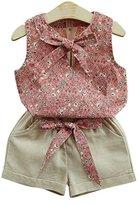 Girl 's T-Shirt Shorts,Hemlock Toddler Girl Summer Vest Shirt Short Pants (2T, Pink)