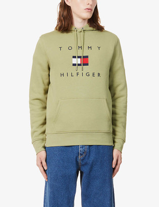 Tommy Hilfiger Logo-embroidered cotton-jersey hoody