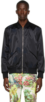 Paul Smith 50th Anniversary Black and Navy Apple Bomber Jacket