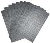 Benson Mills Tweed Woven Placemats, Nickel, Set of 8