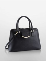 Calvin Klein Saffiano Leather Satchel