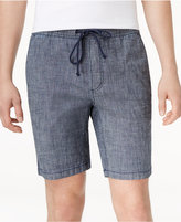 American Rag Men's Classic Fit Stretch Chambray Drawstring Jogger Shorts, Only at Macy's