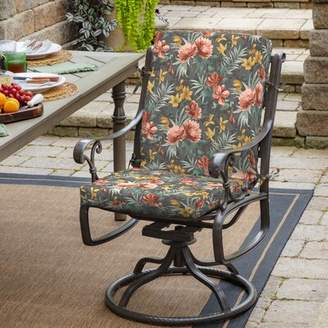 Bay Isle Home Phoebe Floral Outdoor Chair Cushion Bay Isle Home