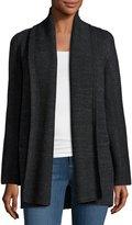 Vince Open-Front Car Coat Sweater, Charcoal/Dark Gray