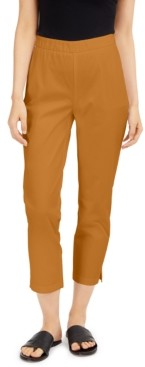 Eileen Fisher Twill Pull-On Ankle Pants, Regular & Petite Sizes