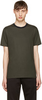 Giuliano Fujiwara Green Striped Collar T-shirt