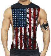 Interstate Apparel Inc American Flag Muscle Workout T-Shirt Bodybuilding Tank Top XS-3XL (M, )