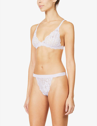 We Are HAH HAH-Chi stretch-lace bralette