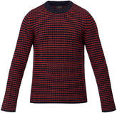 Joseph Crew Neck Navy & Ruby Tweed Knit Sweater