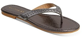 Jack Rogers Women's Collins Metallic Leather Flip-Flops