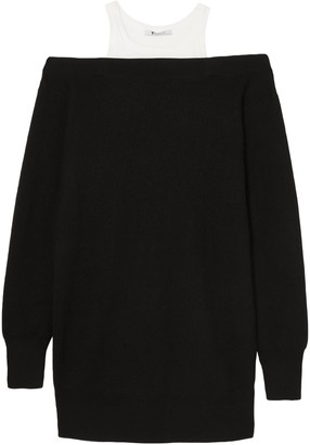 Alexander Wang Layered Merino Wool-blend And Cotton Dress