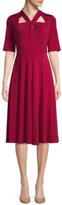 Gabby Skye V-Neck Knee-Length Dress