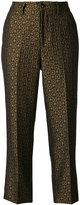 Closed printed cropped trousers