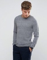 Selected Crew Neck Ribbed Knit
