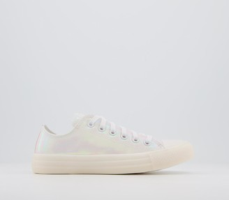 Converse All Star Low Trainers White Iridescent Exclusive