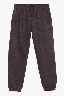 Nasty Gal Womens Running from My Problems Plus Joggers - Grey - 14/16