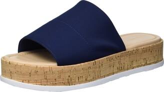 Via Spiga Womens Garcella Blue Slides 9 M
