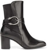 Gucci Dionysus Leather Ankle Boots - Black