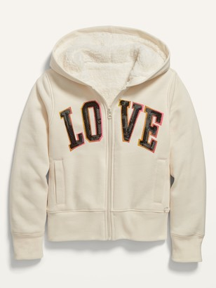 Old Navy Cozy Sherpa-Lined Zip Hoodie for Girls