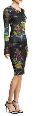 Diane von Furstenberg Floral-Print Ruched Dress