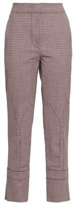 Cédric Charlier Checked Wool-blend Tapered Pants