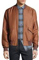 Vince Classic Linen-Blend Bomber Jacket