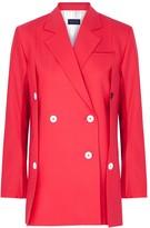 Eudon Choi Beatrice hot pink wool-blend blazer