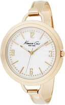Kenneth Cole New York Kenneth Cole 3-Hand Gold-tone Bangle Mother-of-Pearl Dial Women's Watch #KC4681