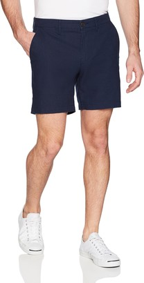 "Goodthreads Amazon Brand Men's 7"" Inseam Comfort Stretch Linen Cotton Short"
