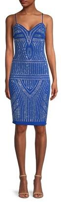 Bebe Salt Crystal-Embellished Bodycon Dress