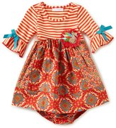 Bonnie Jean Bonnie Baby Baby Girls 12-24 Months Thanksgiving Turkey-Applique Dress